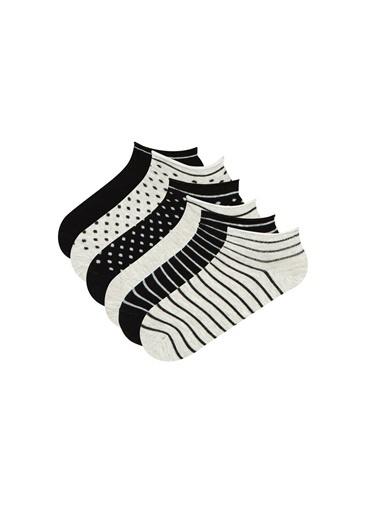 Penti Kadın Gri Siyah Multi Darky 6 Çorap Seti PH40VLTP21IY Siyah